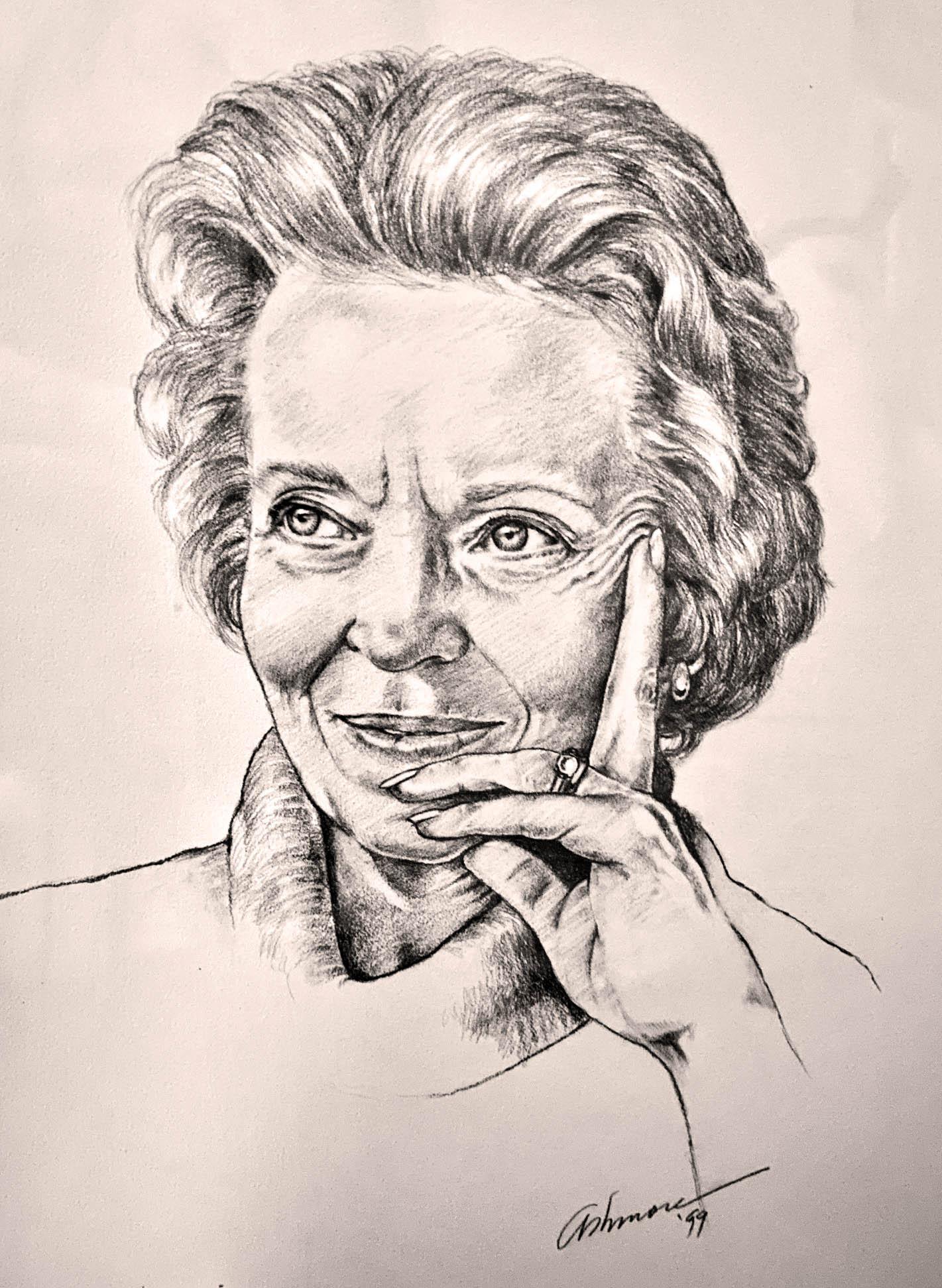 Signed Portrait of Elisabeth Elliot